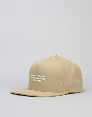 Herschel Supply Co. Trademark Snapback Cap - Khaki