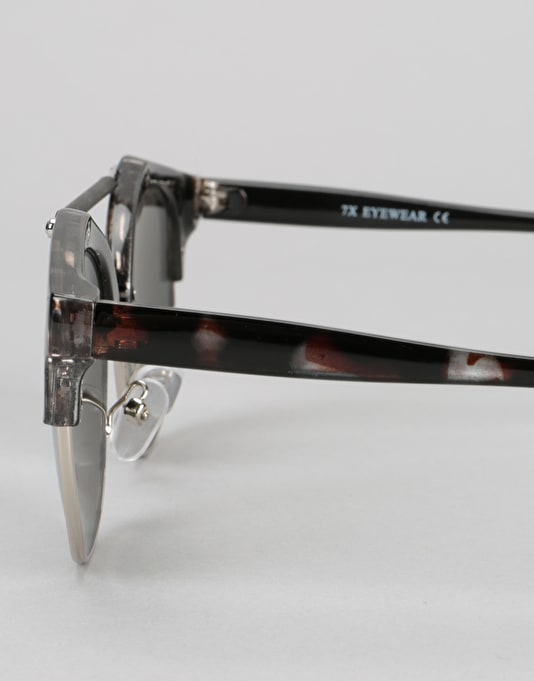 Route One Top Bar Sunglasses - Tortoise/Clear Lens
