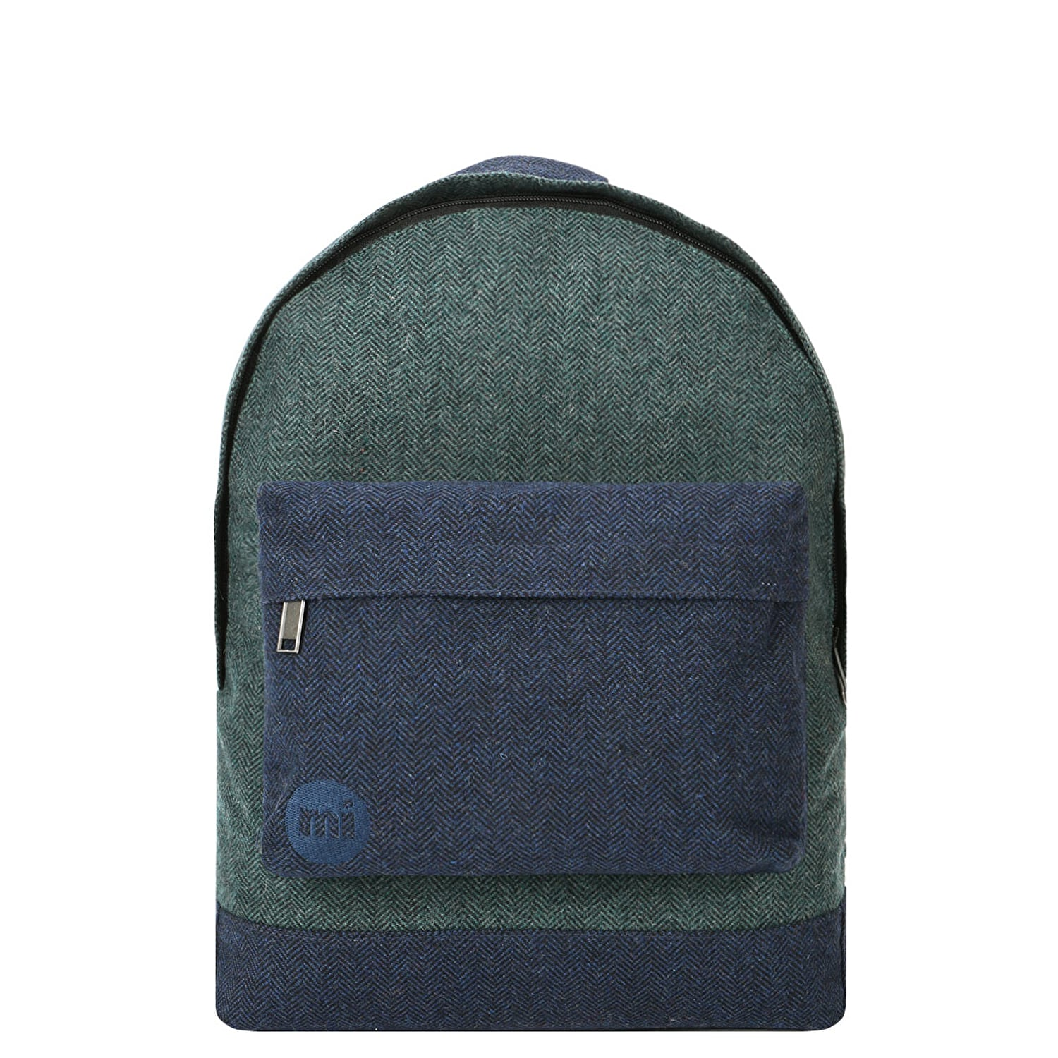 Mi-Pac Herringbone Mix Backpack - Green/Navy (One Size Only)