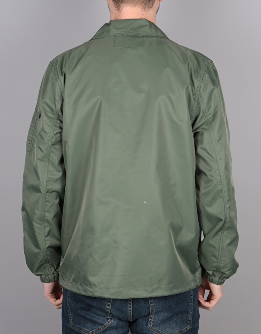 Stüssy Flight Satin Coach Jacket - Olive