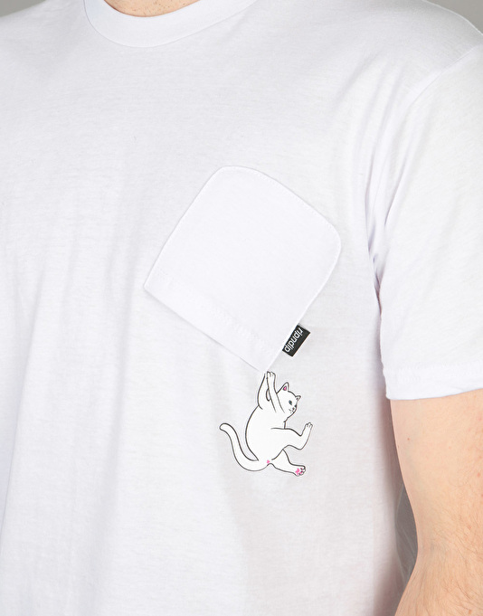 RIPNDIP Hang In There Pocket T-Shirt - White