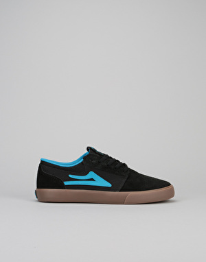 Lakai Griffin Boys Skate Shoes - Black/Gum Suede