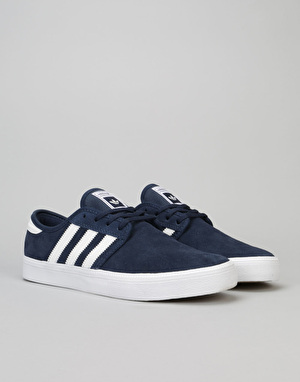 Adidas Seeley ADV Skate Shoes - Collegiate Navy/Crystal White/White
