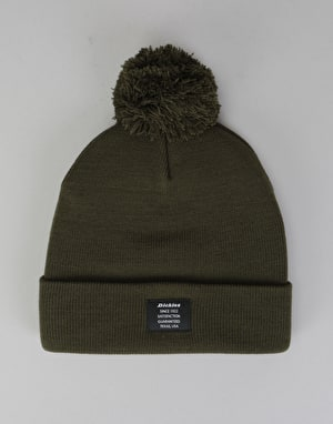 Dickies Edgeworth Bobble Beanie - Olive Green