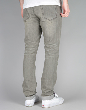 Route One Skinny Denim Jeans - Old Washed Grey