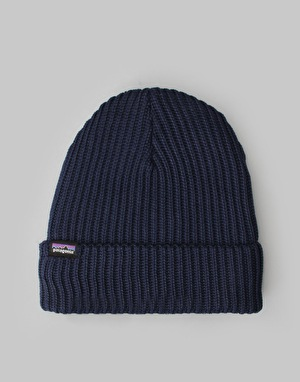 Patagonia Fishermans Rolled Beanie - Navy Blue