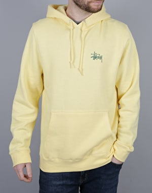 Stüssy Basic Stüssy Pullover Hoodie - Pale Yellow