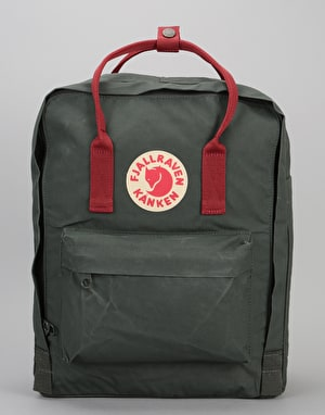 Fjällräven Kånken Backpack - Forest Green/Ox Red