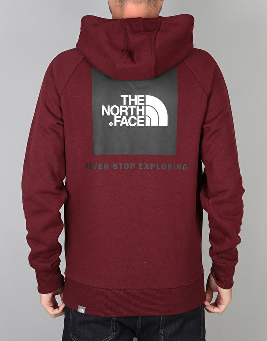 d3fef9145 The North Face Raglan Red Box Pullover Hoodie - Cardinal Red/Heather