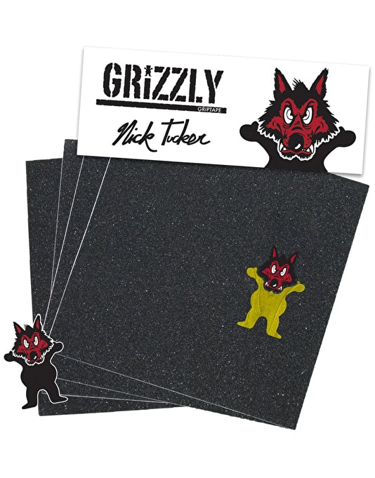 "Grizzly Tucker Wolfpack Pro 9"" Grip Tape Sheet"