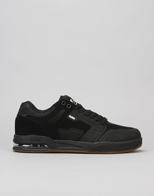 DVS Enduro X Skate Shoes - Black Nubuck