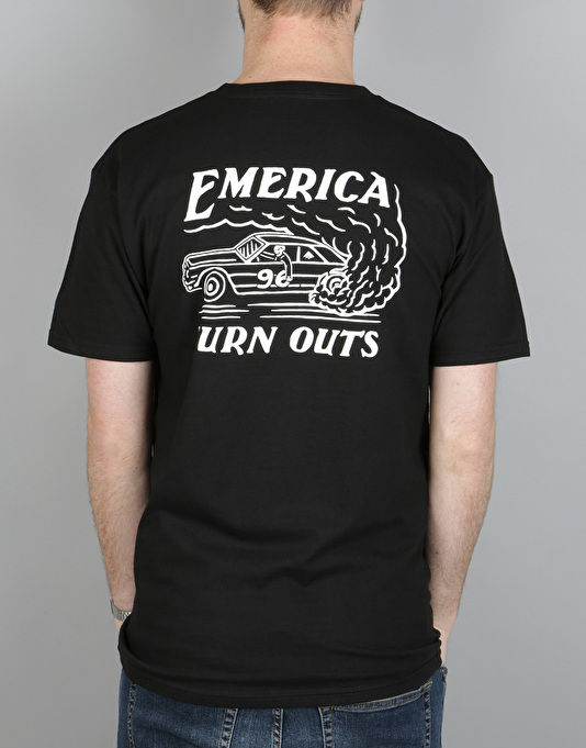 Emerica Burn Outs T-Shirt - Black