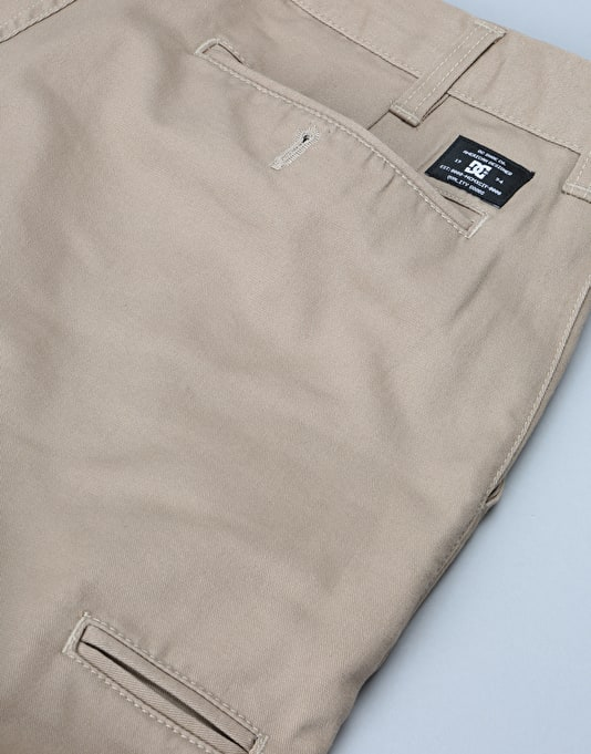 DC Skinny Slim Fit Chino Pants - Khaki