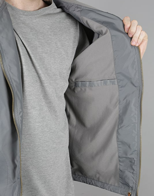 Brixton Claxton Windbreaker Jacket - Grey