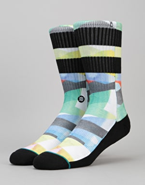 Stance Grainer Athletic Crew Socks - Yellow