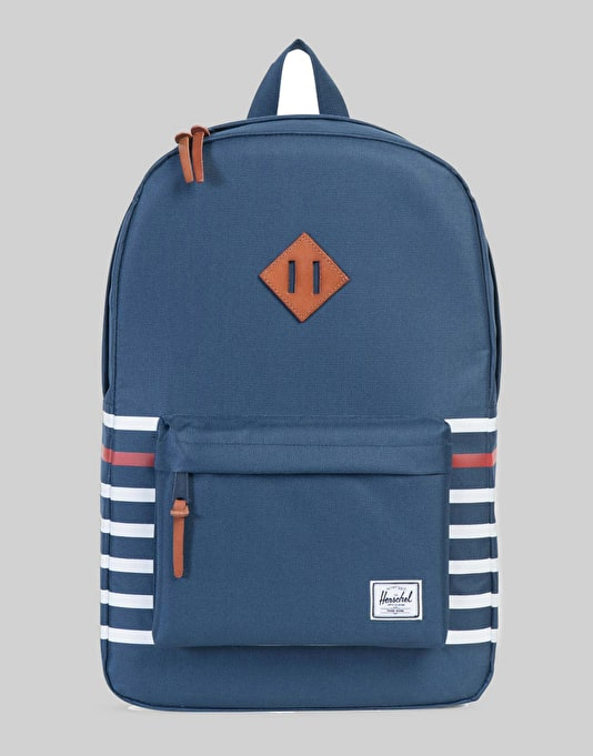 Herschel Supply Co. Offset Collection Heritage Backpack - Navy Stripe