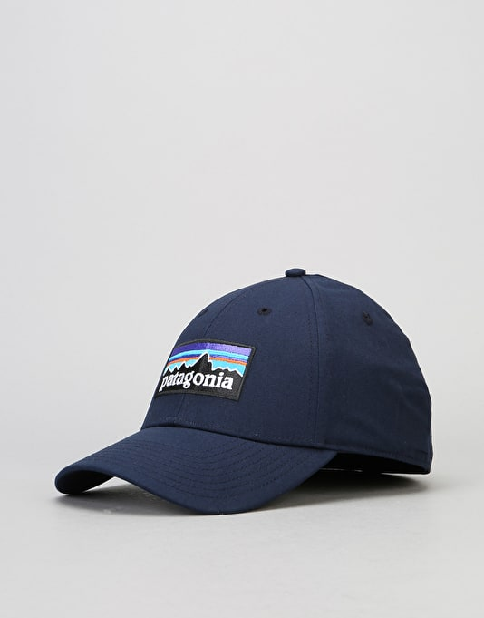 Patagonia P-6 Logo Stretch Fit Cap - Navy Blue