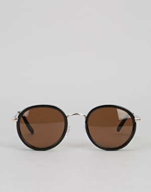 Glassy Sunhater Lincoln Sunglasses - Black/Brown