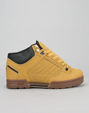 DVS Militia Boot Skate Shoes - Tan Nubuck