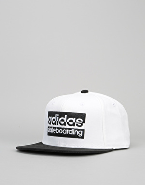 Adidas Boxed Snapback Cap - White/Black