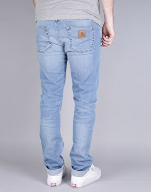 Carhartt Rebel Denim Jeans - Blue Burst Washed
