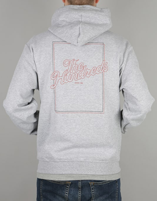 The Hundreds x Champion Slant Box Pullover Hoodie - Athletic Heather