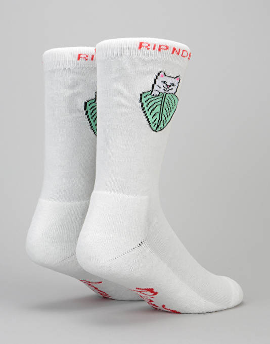 RIPNDIP Nermal Leaf Socks - Off White