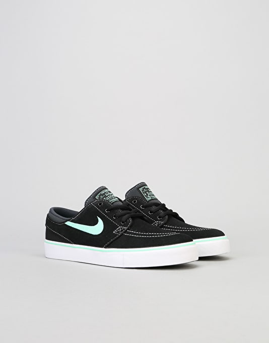 Nike SB Stefan Janoski Boys Skate Shoes - Black/Green Glow/Anthracite