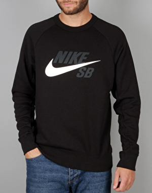 Nike SB Icon GFX Crew Sweatshirt - Black/White