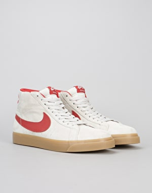Nike SB x FTC Blazer Mid QS Skate Shoes - Light Bone/Brick House/Gum