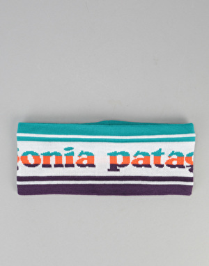Patagonia Lined Knit Headband - Park Stripe Band/Birch White