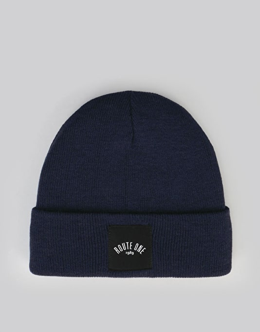 Route One Digital Cuff Beanie - Navy