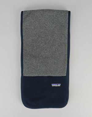 Patagonia Synchilla Scarf - Nickel/Navy Blue