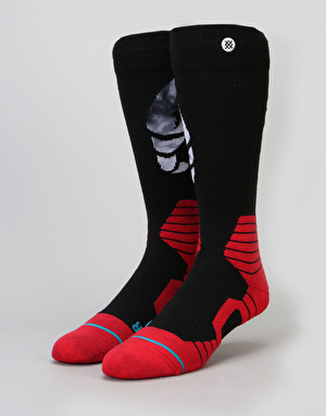 Stance Crab Grab (Pinch) 2017 Snowboard Socks - Black/Red