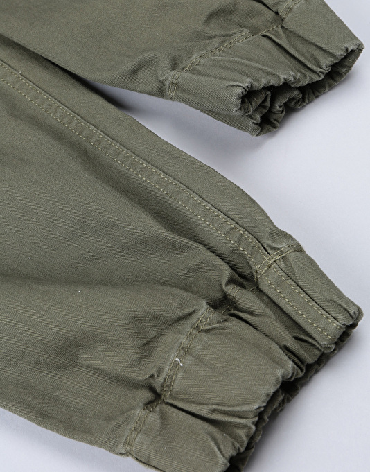DC Elmsford Gathered Cargo Pants - Dark Olive