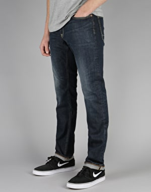 DC Washed Straight Jeans - Dark Stone