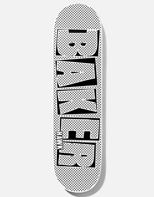 Baker Hawk Brand Name Halftone Skateboard Deck - 7.75""