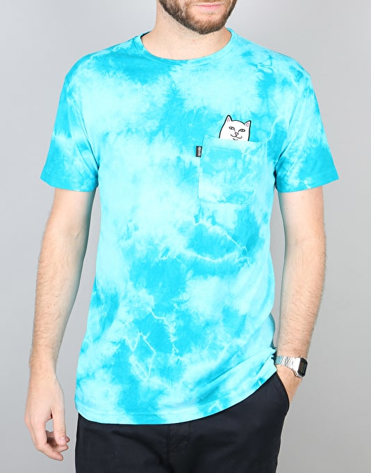 RIPNDIP Lord Nermal Pocket T-Shirt - Turquoise Lightning Wash