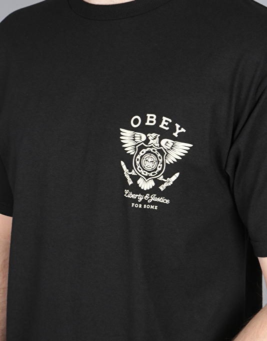 Obey Liberty & Justice T-Shirt - Black