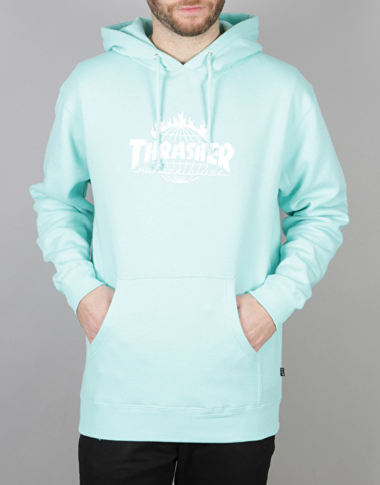 HUF x Thrasher TDS Pullover Hoodie - Mint