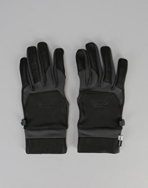 The North Face Etip Leather Gloves - Asphalt Grey/TNF Black