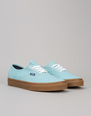 Vans Authentic Skate Shoes - (Washed Canvas) Blue Radiance/Gum