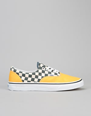 Vans Era Skate Shoes - (2-Tone Check) Citrus/True White