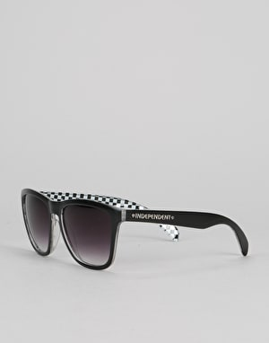 Independent Cross Check Sunglasses - Matte Black/White