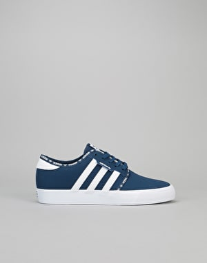 Adidas Seeley Boys Skate Shoes - Mystery Blue/Mystery Blue/White