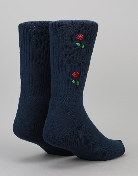 Vans Rose Crew Socks - Dress Blues