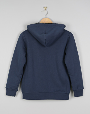 Element Bolton Boys Fleece Lined Zip Hoodie - Indigo