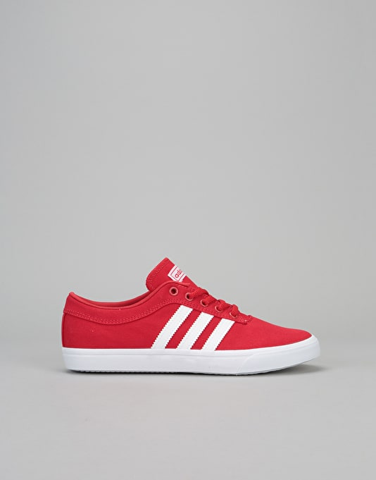 Adidas Sellwood Boys Skate Shoes - Scarlet/White/White