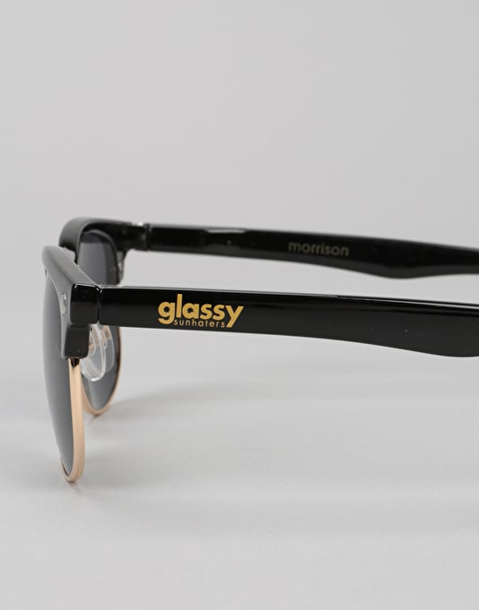 Glassy Sunhater Morrison Sunglasses - Black/Gold