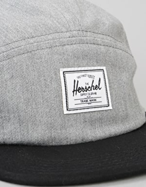 Herschel Supply Co. Glendale 5 Panel Cap - Heathered Grey/Black